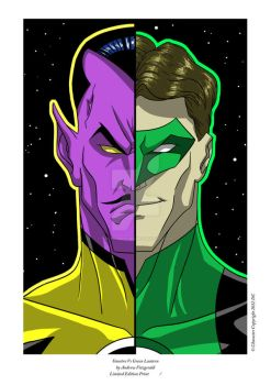 Sinestro Vs Green Lantern - Andrew Fitzgerld Print by comics2movies