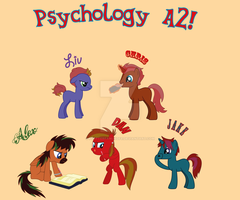 my psychology table ponyfied! by flutterfanUKOFE