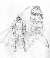 Dr Doom sketch by 0boywonder0