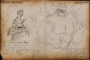 2014 OCT Concept Sketches 5 - The Night Terror by RobinRone