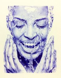 BIC ballpoint pen drawing by chaseroflight