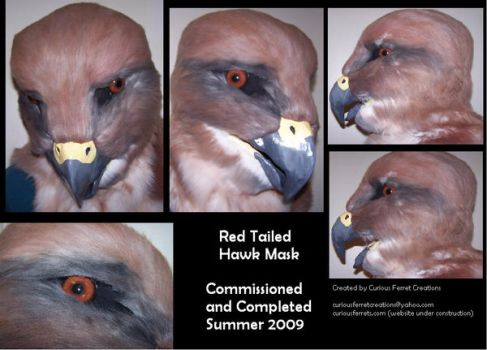 Red Hawk Mask by Niennis