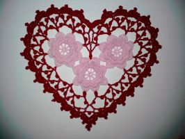 Rose Heart Doily by koepr5333