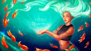 1000 Thanks by RocioRodriguez