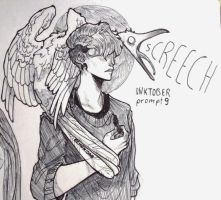 inktober day 9 - screech by echonidae