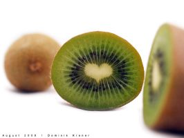 heart shaped kiwi by dkraner