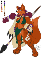 Commission: Hunter Vixen by Maroon64
