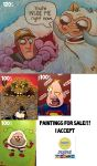 paintings for sale! by nachotoonz