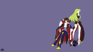 Lelouch and C.C. (Code Geass) Minimalist Wallpaper by slezzy7
