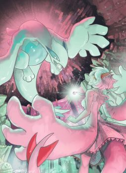 Silver and Lugia by AudGreen