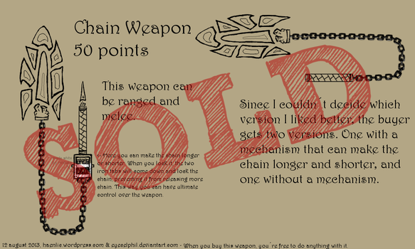Adoptable - Chain Weapon OPEN by Eyecelphil