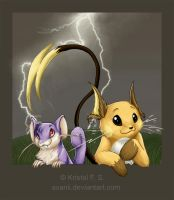Raichu and Rattata