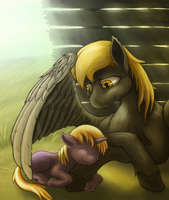 Under the motherly wing by FatNinjah