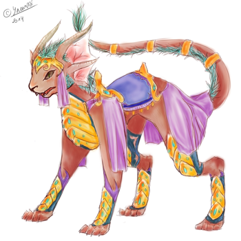 Dragoncat mount by Ivushe