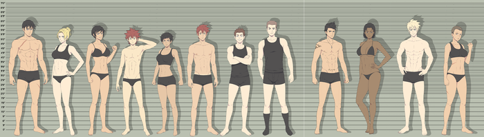 THE  ULMITATE HEIGHT CHART by SNEEDHAM507