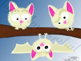 Marshmallow Bats by amy3dtd