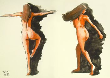 Nude Figure Paintings 2 by CatCouch