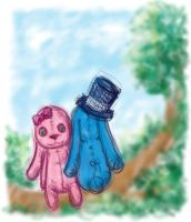 Two Lost Melancholic Bunnies. by tll-bam