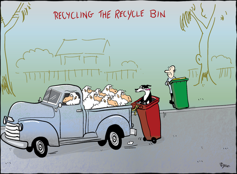 Recycling the Recycle Bin by Sopecartoons