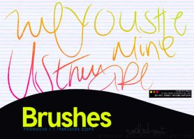 PS Brush-4 Pronouns by oridzuru