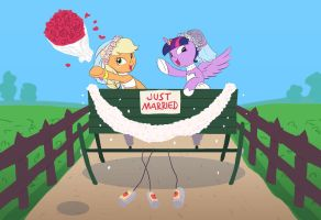 Commission: Just married by Siansaar