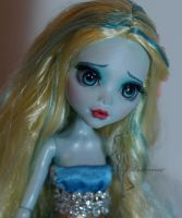 Little Mermaid OOAK doll - close up by lulemee