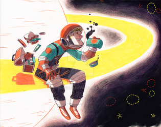 Spaceman Willie - Saturn Lunchtime by Black85