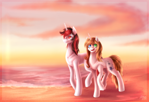[AT] The beach wears pink by glitteronin