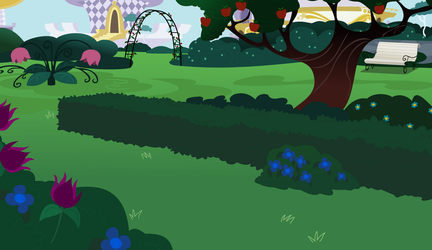 Mlp Canterlot Garden -gala-shy-day -done by matty4z