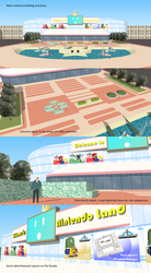 Nintendo Land (fan project): main entrance plaza by FrikeTheDragon