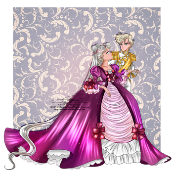 Neo Queen Serenity and Lady Uranus by selinmarsou