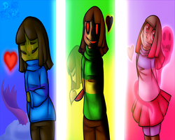 Glitchtale Children Wallpaper + Speedpaint by PokefoxArt
