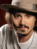 [Drawing]Jonnhy Depp by Graph3Dungo