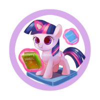 Filly badge series - Twilight Sparkle by amy30535