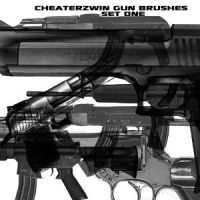 Gun Brush Set One by CHEATERZWIN