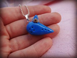 The Legend of Zelda Ocarina Necklace by TheGeekEmporium