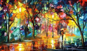 The Song Of The Rain by Leonid Afremov by Leonidafremov