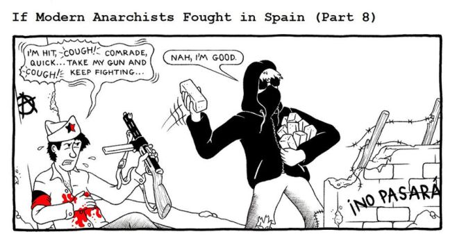 If Modern Anarchists Fought in Spain (Part 8) by RednBlackSalamander