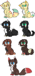 Canine Adopts - CLOSED by KeiriiAdoptables