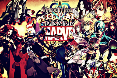 Kingdom Hearts: Ultimate Dissidia Marvel Face-Off by multificionado