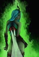 Mother of the hive (Chrysalis... humanization?) by DrYayberg