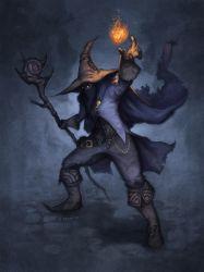 Black Mage by alexstoneart