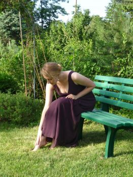 lady - garden bench 8 by indeed-stock