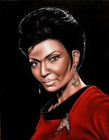 Lt. Uhura on black velvet by BruceWhite