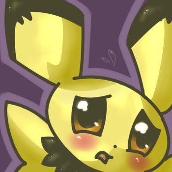 Freaking out Pichu by mypokemans