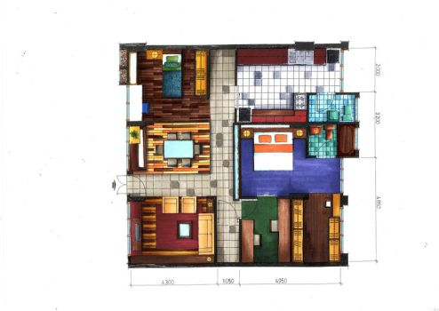 Floor Plan Rendering in Markers by ray-agustin