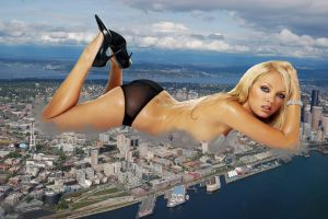 Giantess in the city 6 by lala222221