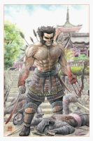 Samurai Wolverine in Kiyomizu Temple by BillDinh