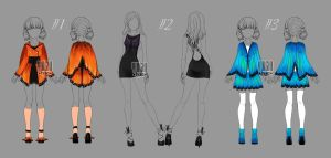 [closed] Auction Outfits Butterflies by YuiChi-tyan