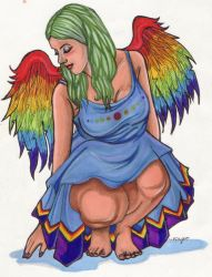Rainbow Angel by soakedinbleach